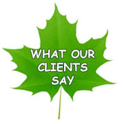 What Our Clients Say Leaf